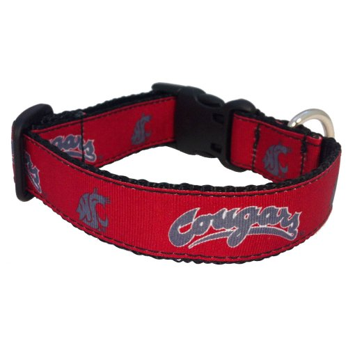 NCAA Washington State Cougars Dog Collar (Team Color, (Washington State University Clothing)