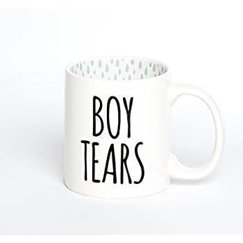 Jumbo 22 Oz Boys Tears Coffee Mug, Best Holiday Gift. Girl Power Quotes. BPA Free Porcelain Mugs By Ankit