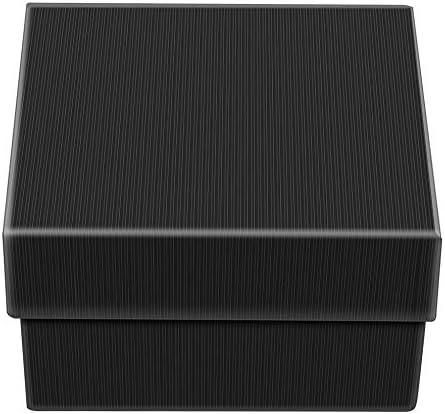 Presente caja de regalo caja para brazalete joyería anillo pendientes reloj reloj caja de almacenamiento negro: Amazon.es: Hogar