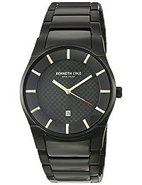 Kenneth Cole New York Men's 'Slim' Quartz Stainless Steel Dress Watch, Color:Black (Model: KC15103002)