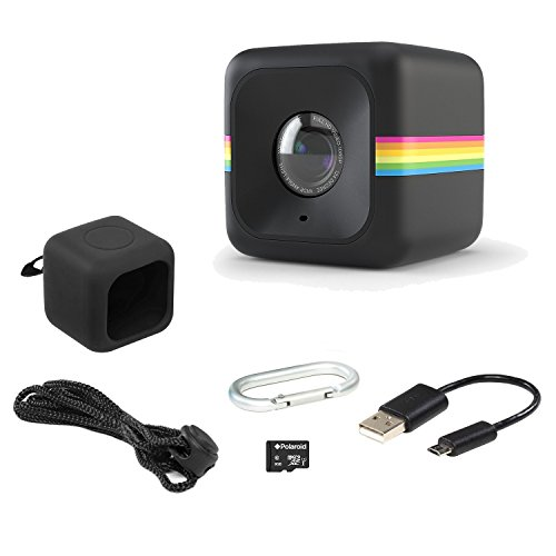 Polaroid Cube Act II – HD 1080p Mountable Weather-Resistant Lifestyle Action Video Camera & 6MP Still Camera w/ Image Stabilization, Sound Recording, Low Light Capability & Other Updated Features by Polaroid