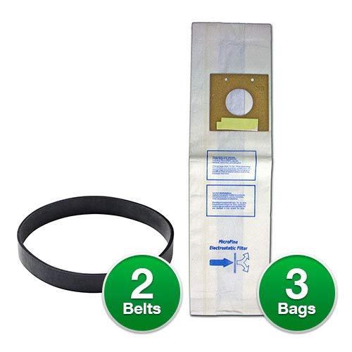 (EnviroCare Eureka Paper Bag Style U 3 Per Pack Replacement #308SW (3 Bags w/Type U Belt))