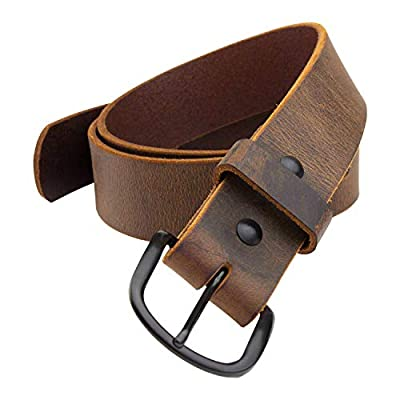 The Bootlegger Leather Belt | Made in USA | Full Grain Leather | Mens Brown Belt