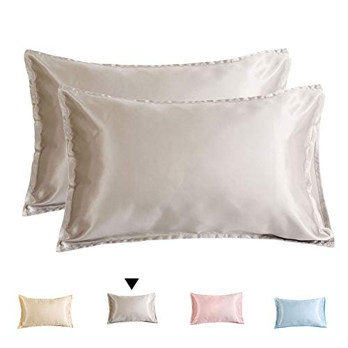 Amazon Com Xiongfeng Satin Pillowcases For Hair King Size
