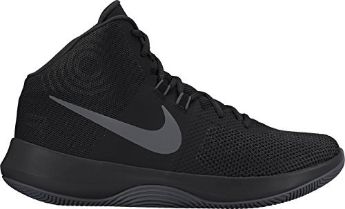 NIKE Men's Air Precision Basketball Shoes (11, Black/Grey-M) by NIKE