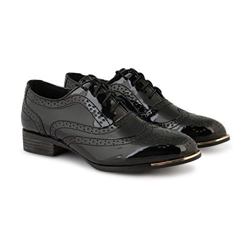 Dolcis - Zapatos de cordones para mujer 661 Black