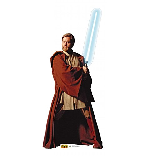 Star Wars Customs (Obi-Wan Kenobi - Star Wars Prequel Trilogy - Advanced Graphics Life Size Cardboard Standup)