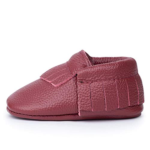 (BirdRock Baby Moccasins - 30+ Styles for Boys & Girls! Every Pair Feeds a Child (US 8, Merlot))