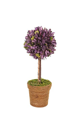 Special T Imports 13'' Topiary with Purple Wooden Petals by Special T Imports (Image #1)