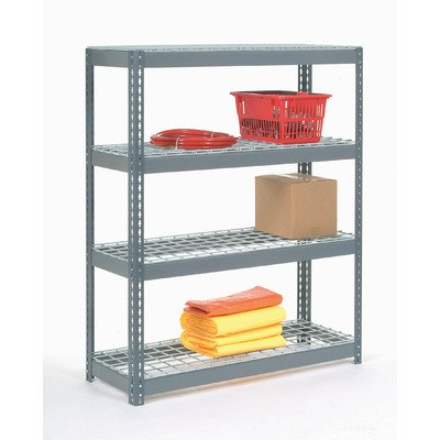 Wire Deck Rivet Lock 5 Shelf Shelving Unit Size: 96