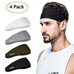 Dominating Your Competition  A stylish way to wick sweat and keep your hair in place during your workout. Snug, soft and quick-drying; very breathable, durable and sweat absorption mens headband. Poshei headbands for men is perfect for any t...
