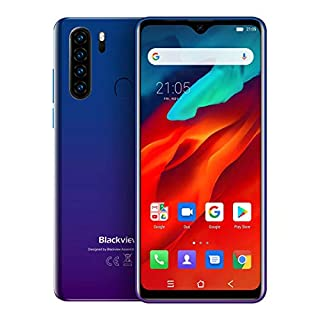 "Unlocked Smartphones Blackview A80 Pro - Bundle Android 9.0 Pie 4GB+64GB ROM, 6.5"" HD+ Waterdrop Screen,AT&T T-Mobile 13MP Quad Rear Camera, 4680mAh Battery 4G Dual SIM (Gradient)"