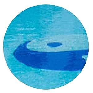 alfombrilla de ratón Yin Yang símbolo en la piscina. - ronda - 20cm