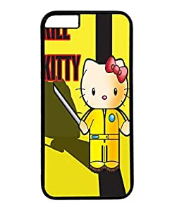 Iphone 6 plus case ,fashion durable black side design phone case, pc material phone cover ,with Kill Kitty.