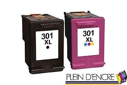 Juego de 2 cartuchos de tinta n.º 301 XL/gran capacidad ...