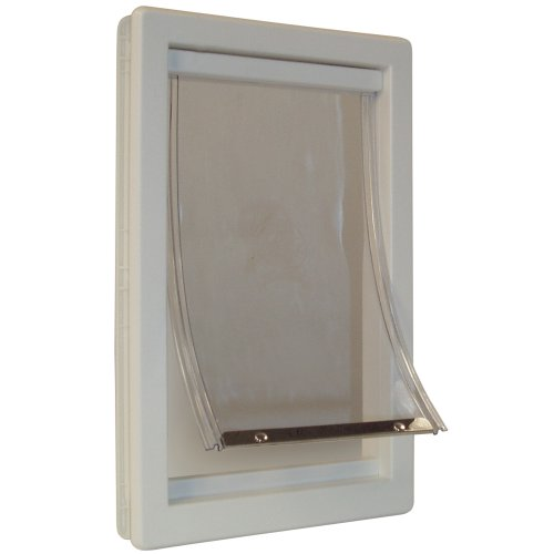 Ideal Pet Products - Extra-Large 10.5-by-15-Inch Flap Size Original Pet Door with Telescoping Frame