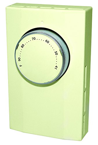 KING K101A Single Pole Line Voltage Thermostat 120Volt/240Volt, Almond