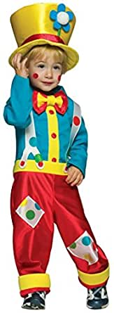 UHC Boy's Colorful Clown Funny Theme Fancy Dress Toddler Halloween Costume 2T