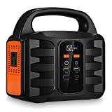 Generator Portable Power Station,NusGear 155Wh 42000mAh Camping Solar Generators Lithium Power Supply with 110V AC Outlet, 2 DC Ports, USB QC3.0, LED Flashlights for CPAP Home Camping Emergency Backup