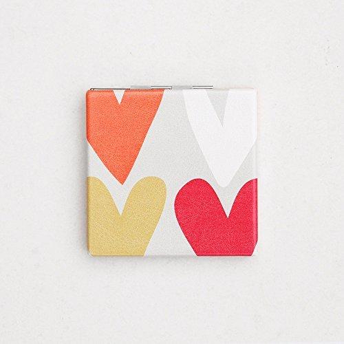 Caroline Mirror - Caroline Gardner Hearts Pocket Vanity Mirror by Caroline Gardner