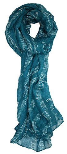 Ted and Jack - Sweet Symphony Allover Music Notes Scarf in (Fun Scarf)