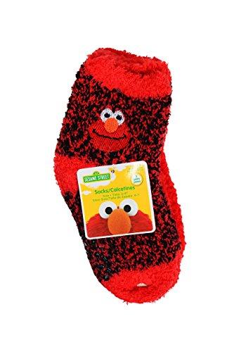 Sesame Street Elmo 2 Piece Pajama Set w/ Fuzzy Socks (3T)