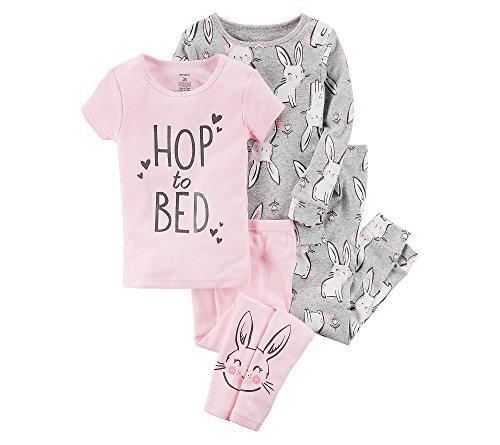 Carter's Girls' 4-Pc. Bunnies Snug Fit Cotton Pajama Set 7 ()
