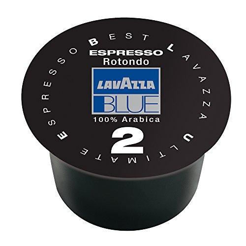 Lavazza BLUE Capsules, Espresso Rotondo 2 Coffee Blend, Dark Roast, 28.2-Ounce Boxes (Pack of 100)