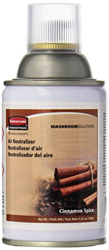 Rubbermaid Commercial FG400696 Standard Aerosol Refill for Microburst Metered Air Care Systems, Cinnamon Spice ()
