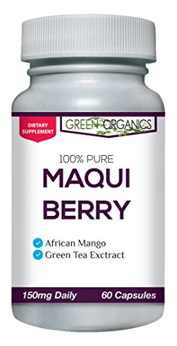 Maqui Berry Supplement – Potent Superfood High in Antioxidants for Boosting Immune System Health and Extra Energy – 60 Capsules (150mg) – by Green Organics