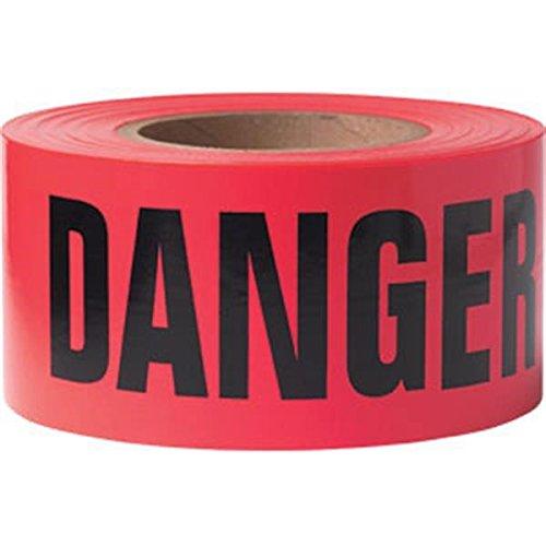 Presco Barricade Tape, 2.5 mil, ''Danger'', Red (32 Pack)