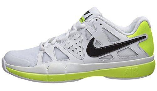 NIKE Men's Air Vapor Advantage Tennis Shoe (10.5 D(M) US, White/Volt/Black) by NIKE