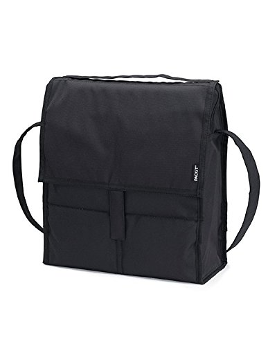 PackIt Freezable Picnic Bag with Zip Closure, Black