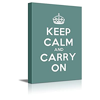 Gallery Keep Calm and Carry On - Canvas Art Wall Art - 16