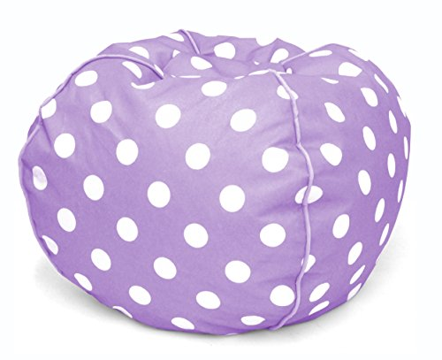 (Heritage Kids JK656191 Kids Polka Dot Round Bean Bag Chair, Lavender )