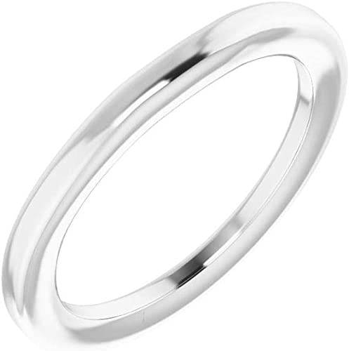 Size 7 Bonyak Jewelry Continuum Sterling Silver Band for 4.4 mm Round Ring