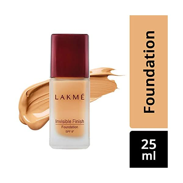 Lakme © Invisible Finish SPF 8 Foundation, Shade 04, 25ml And Lakme © Invisible Finish SPF 8 Foundation, Shade 05, 25ml 2021 July Product 1: If light coverage is what you need, then look no further Lakmà Invisible Finish Foundation is here Product 1: For picture-perfect skin, this ultra-light, water based foundation with invisible finish is ideal for that natural exuberance Product 1: SPF 8 shields the skin from harmful rays and prevents skin darkening, keeping you looking young & fresh