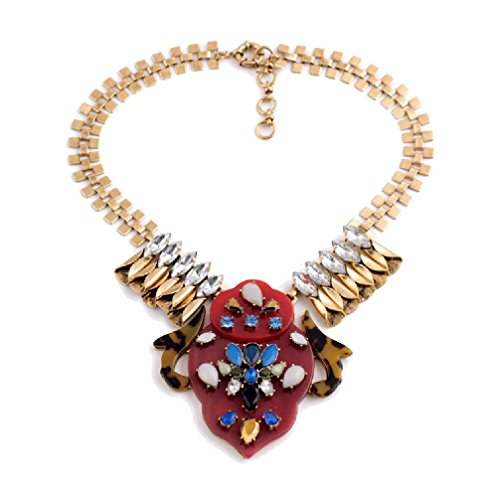 Fun Daisy Jewelry Vintage Multi Bead Retro Fashion Necklace - xl01377