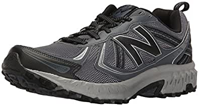 New Balance Men's MT410v5 Cushioning Trail Running Shoe, Dark Grey, 7.5 D US