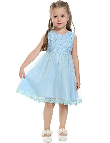 Buy blue and orange flower girl dresses - 6