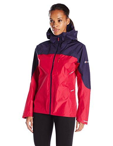 Storm Shell Jacket - Berghaus Women's Vapour Storm Shell Jacket, Medium, Dark Cerise/Evening Blue