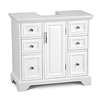 Weatherby Bathroom Pedestal Sink Storage Cabinet Cream