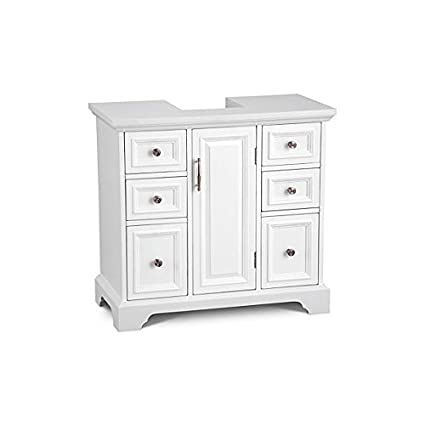 Charming Pedestal Sink Cabinet With Wood Top   Arrives Fully Assembled   By  Improvements