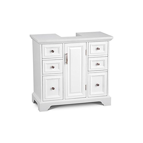 Pedestal Sink Cabinet with Wood Top - Arrives Fully Assembled - By Improvements