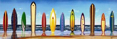 (Scott Westmoreland Board Stiff Decorative Surfboards Beach Photography Print Poster 12 by 36 )