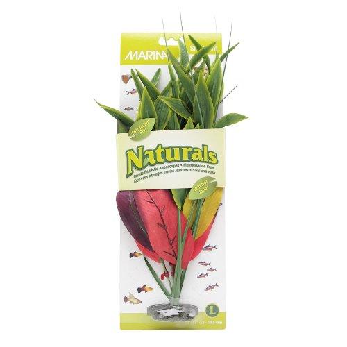 Marina Naturals Dracena Silk Plant, Large, Red/Yellow by Marina