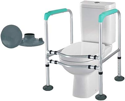 Toilet handrail HUILIZ Wc-SicherheitsgeläNder, Bad-Sicherheitsrahmen, Sitzkissen Mit Griff, Haltestange, Verstellbares, Freistehendes HilfsgeläNder - Menschen Mit EingeschräNkter MobilitäT