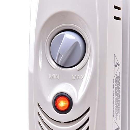 """COSTWAY Oil Filled Radiator Heater Mini Portable Electric Room Thermostat 700W (14"""" Height) by COSTWAY (Image #5)"""