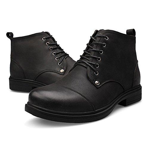 en à et Bottines chaudes la noir cuir hommes chukka pour mode hautes Tqqz5xHwt