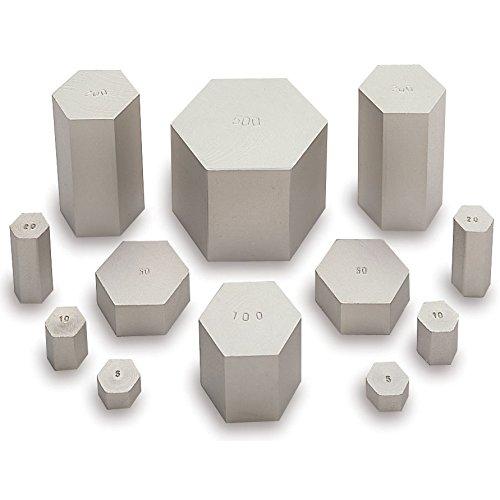 hand2mind Hexagon Metric Mass Set, Stackable Weights (Set of 12) by hand2mind